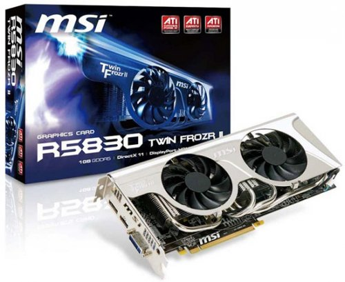 MSI Radeon HD 5830 с кулером Twin Frozr II
